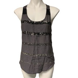 American Eagle Outfitters Gray Sequin Top